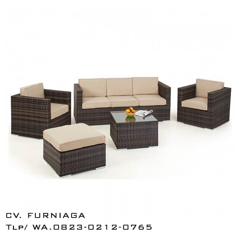 Set Sofa Rotan Sintetis Minimalis