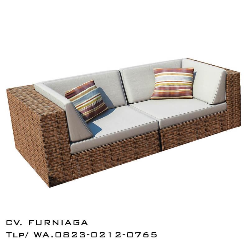 Sofa Minimalis Rotan Cantik