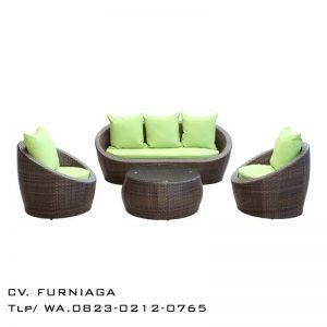 Sofa Tamu Rotan Telor