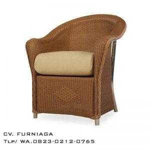 Kursi Dining Chair Rotan Angle