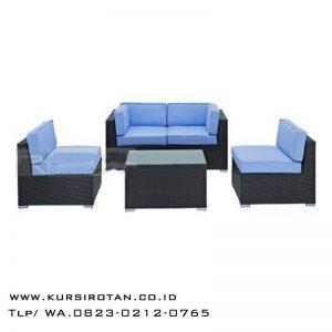 Set Sofa Rotan Sintetis Modern