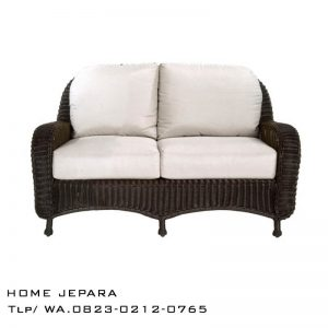 Sofa Bangku Rotan Loveseat